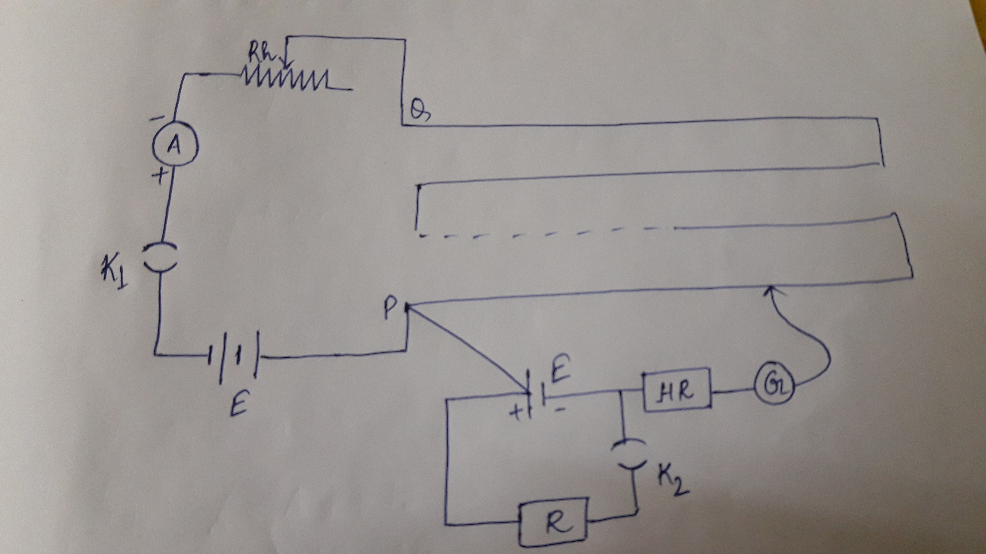 Below Is The Circuit Diagram To Measure Internal Resistance Of A Cell Given Using Potentiometer Why High Box Hr Used In This